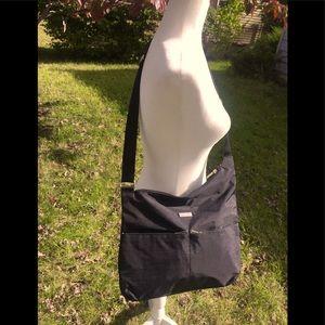 Baggallini's Black Nylon Crossbody Hipster Bag